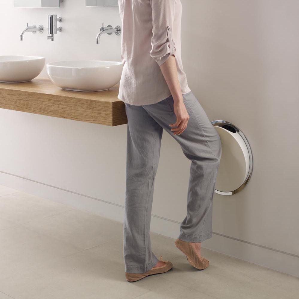 Abfalleimer Für Badezimmer / Zum Einbauen / Messing / Gebürsteter Edelstahl    RS1