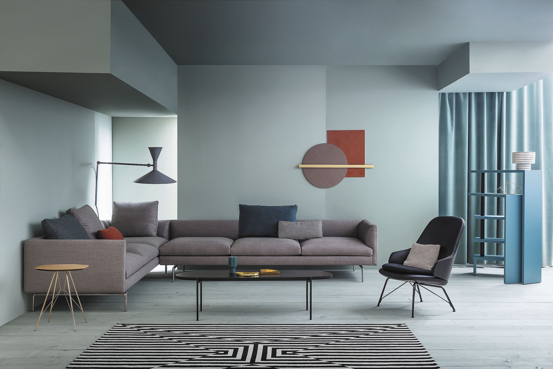 Modulierbares Sofa / modern / Stoff / Leder - COLLECTION FLAMINGO by ...