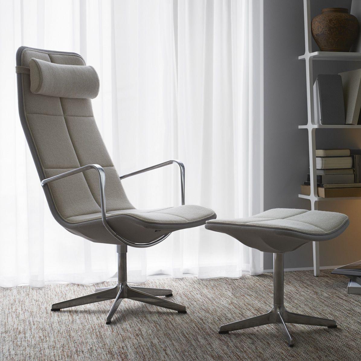 Einzigartig Sessel Hohe Rückenlehne Foto Von Moderner / Leder / Mit Hoher Rückenlehne