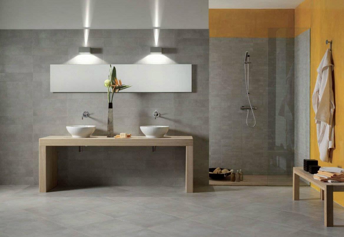 Modernes Badezimmer / aus Corian® / Glas / Massivholz - - ARTE BAGNO ...