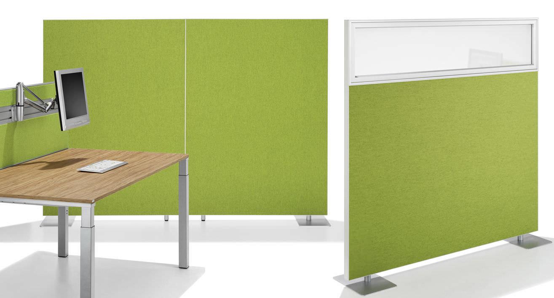 Akustikplatte für Trennwandsysteme / aus Aluminium / Textilfaser ...