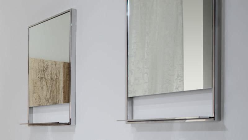 Wandmontierter Spiegel Für Badezimmer Mit Regal Modern Rechteckig C 2819