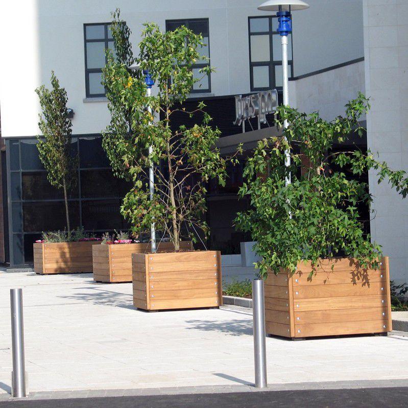Holz Pflanzkübel / Rechteckig / Integrierter Bank / Modern   GRENADIER