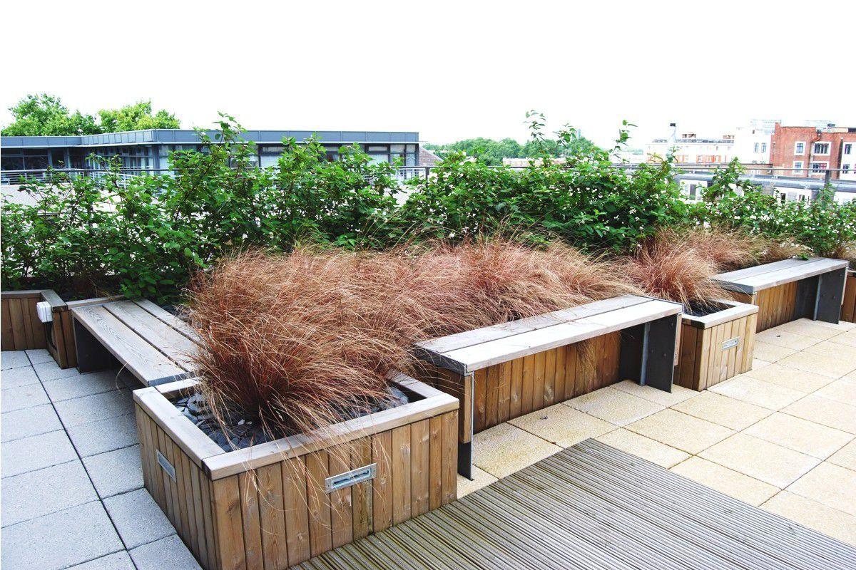... Holz Pflanzkübel / Rechteckig / Integrierter Bank / Modern DIPLOMAT  Street Design ...