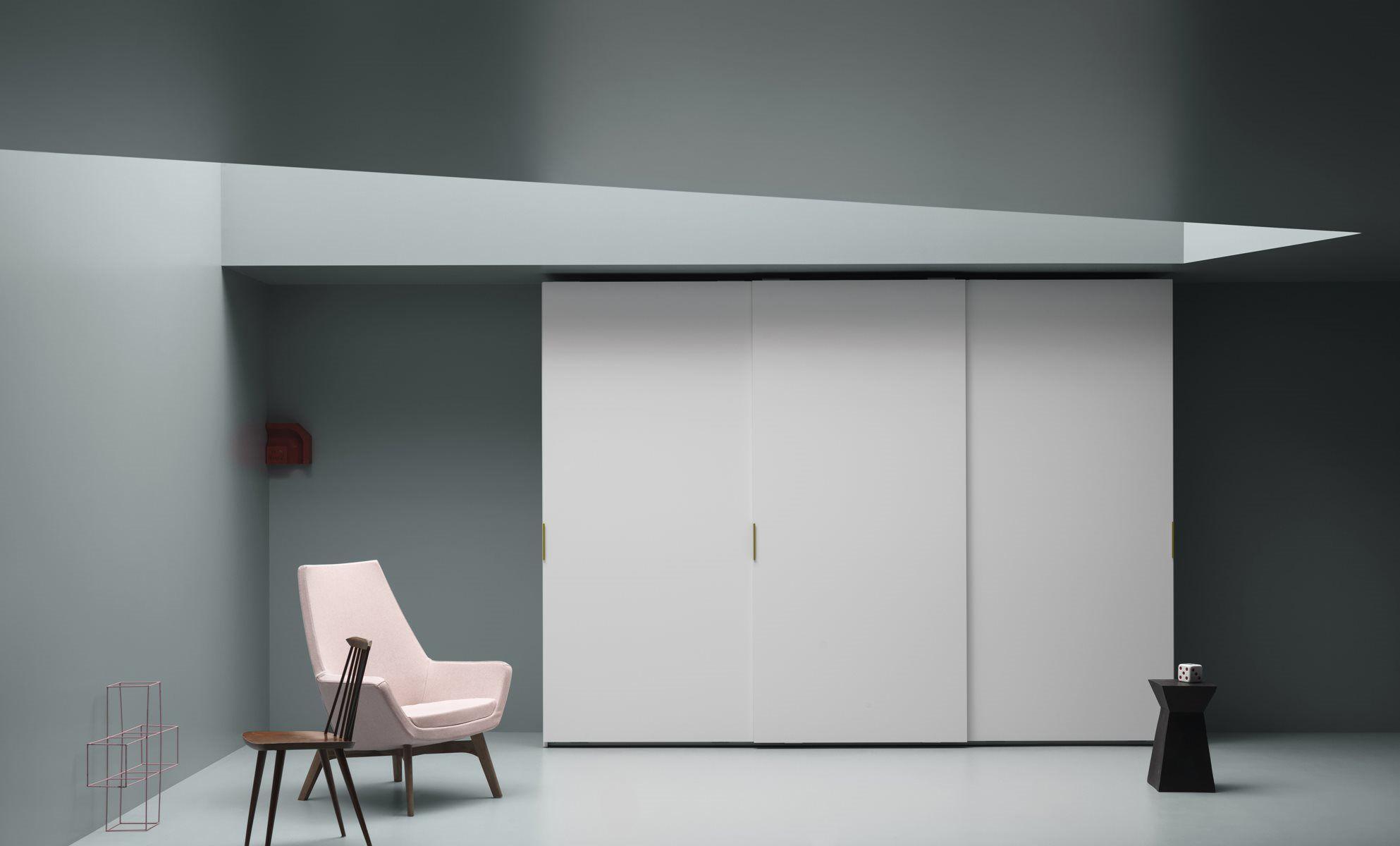 Moderner Kleiderschrank / Schiebetüren - LISCIA - md house