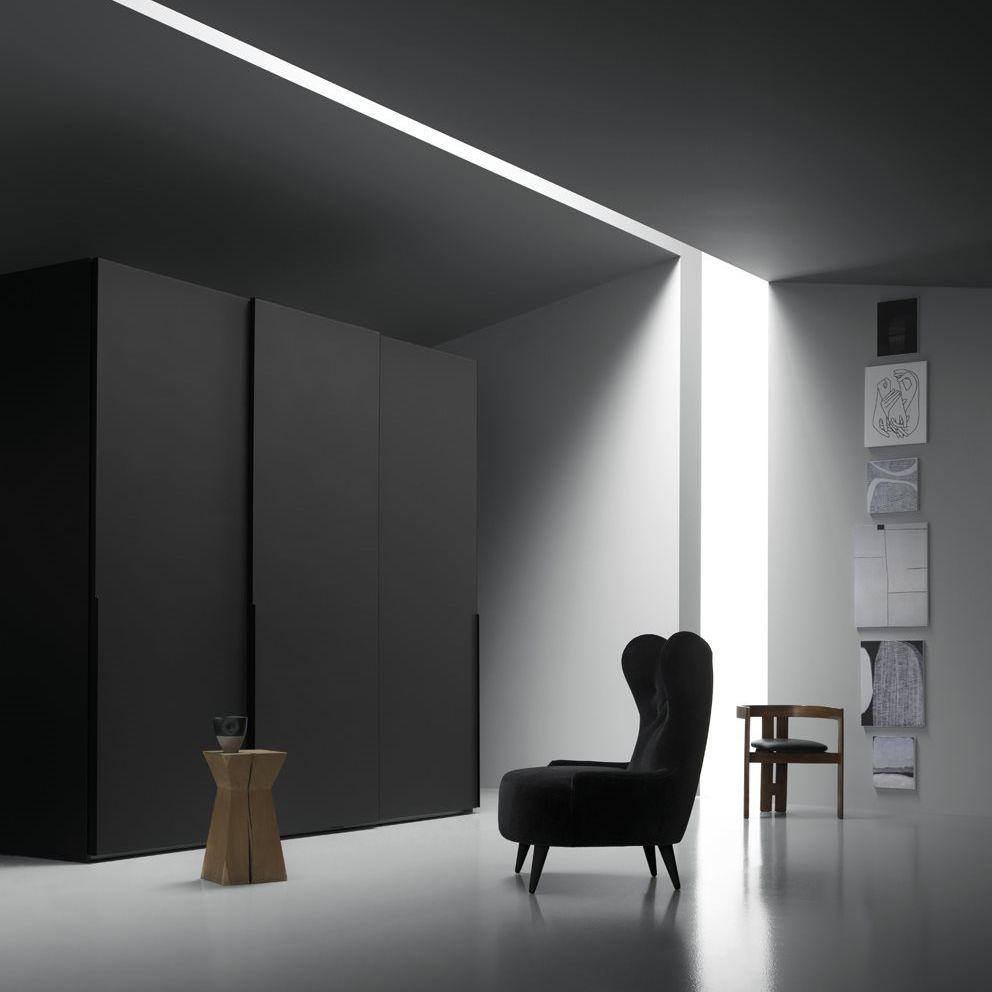 Moderner Kleiderschrank / Glas / Schiebetüren - PROFILE - md house