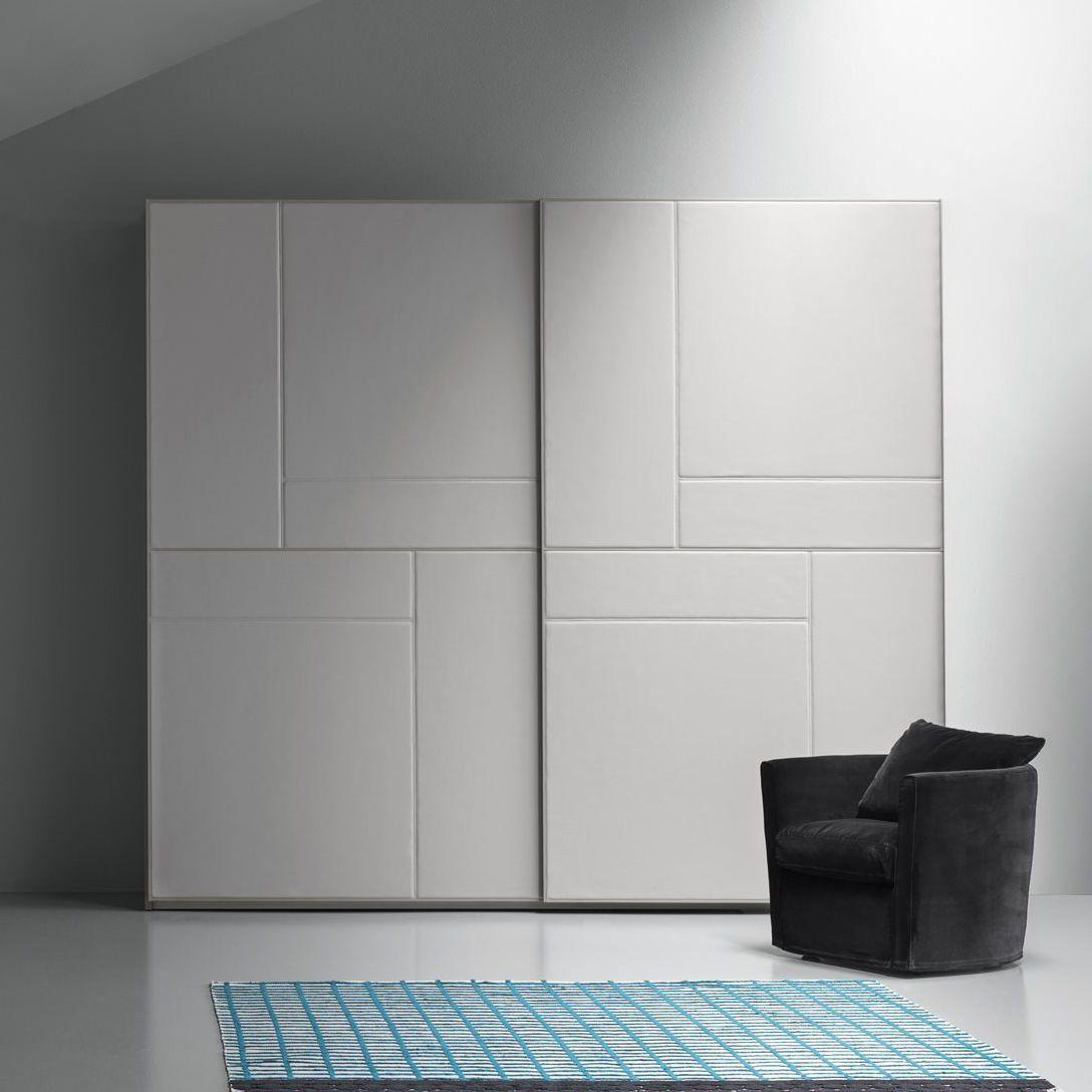 Moderner Kleiderschrank / Leder / Schiebetüren - TETRIS PELLE ...