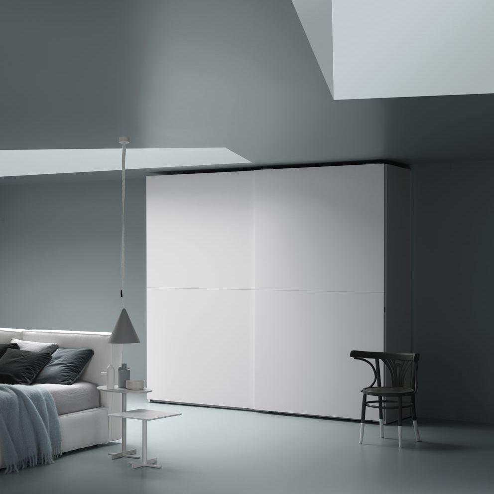 Moderner Kleiderschrank / Schiebetüren - 1/2 - md house