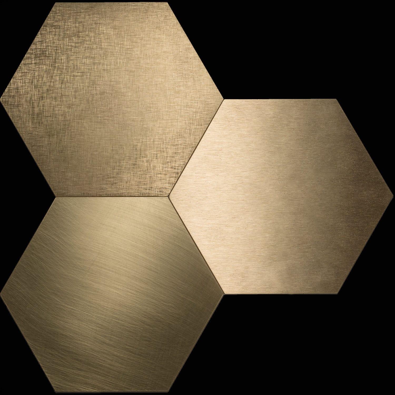 Innenraum-Fliesen / Wand / für Böden / Metall - Piastrelle Esagonali ...