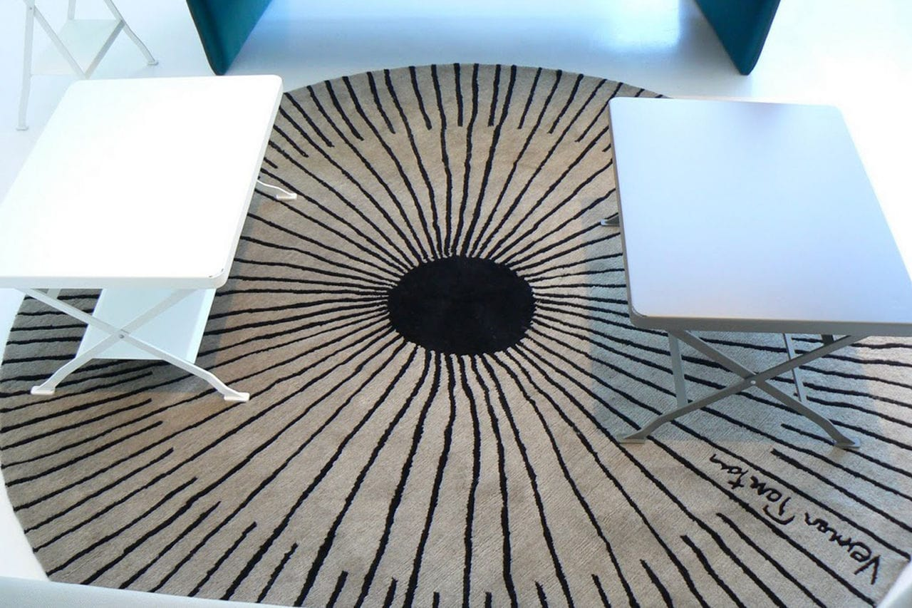 Teppich design rund  Moderner Teppich / Streifenmuster / Wolle / Rund - RAYS - DESIGNER ...