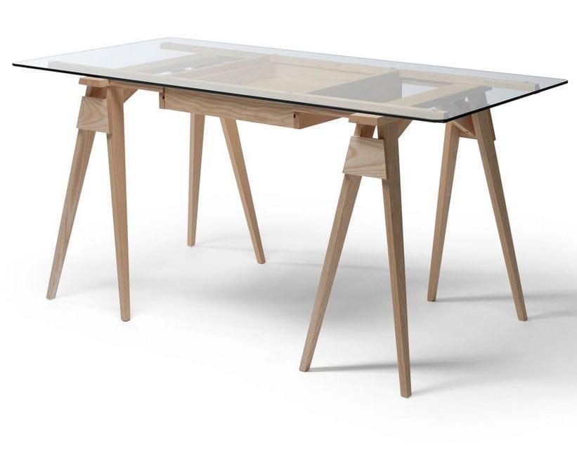 Holz-Schreibtisch / Glas / Skandinavisches Design / Gewerbe - ARCO ...