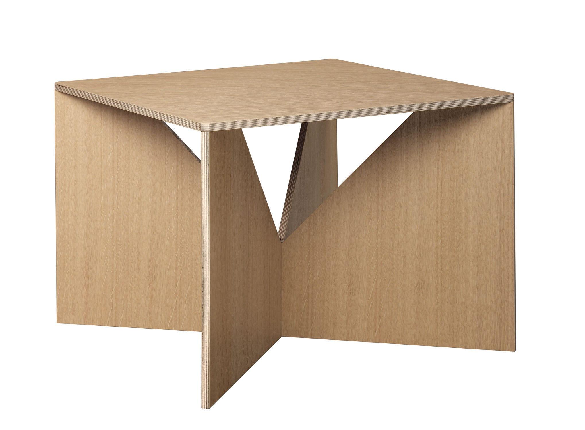 Cool Couchtisch Originelles Design Aus Eiche Nussbaum Lackiertes Holz With  Couchtisch Holz Nussbaum