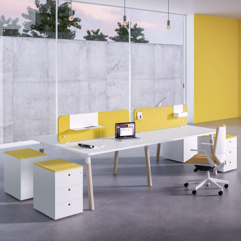Schreibtisch Für Open Space Holz Modern Objektmöbel Woods By