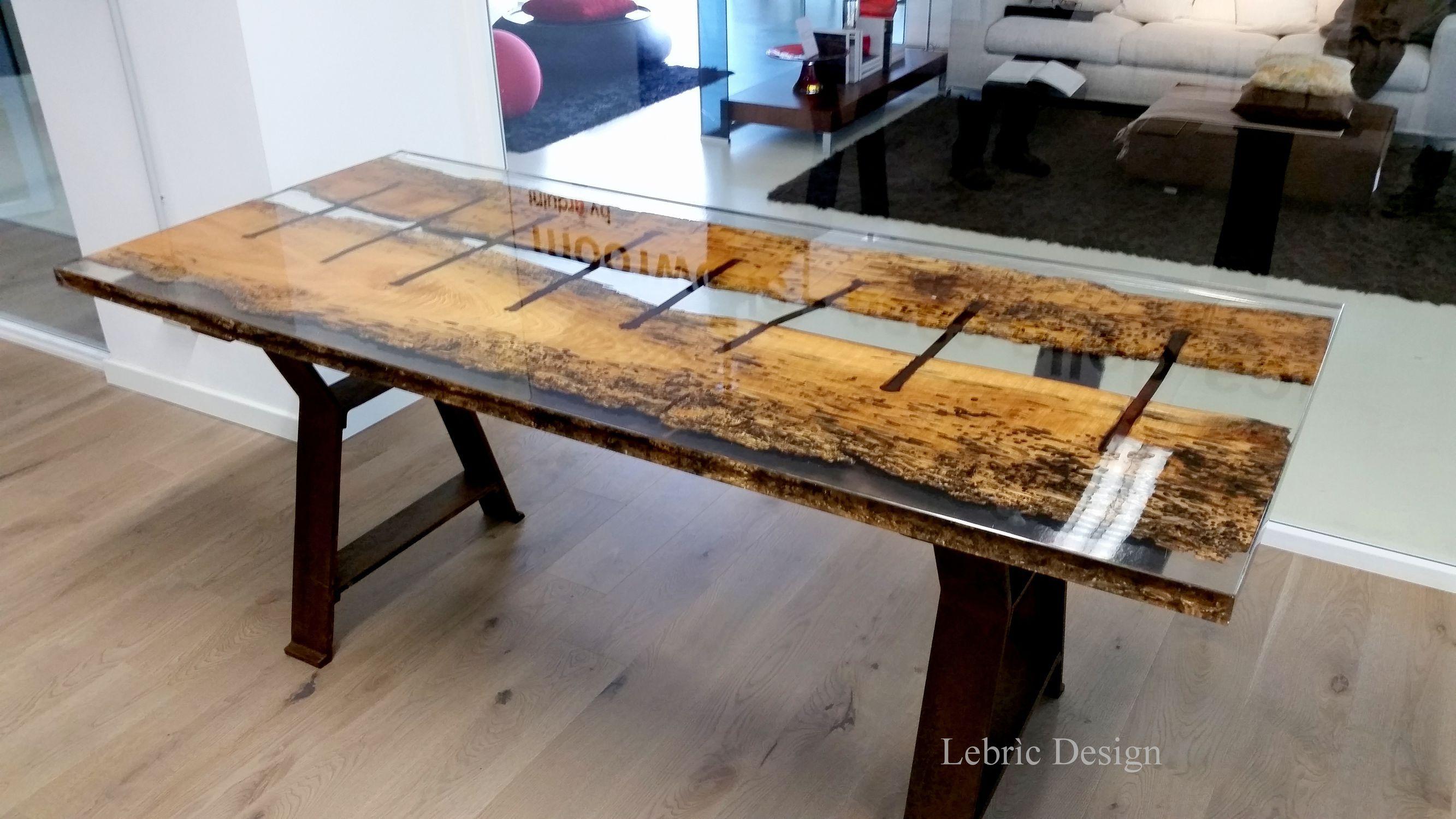 Designer Esstisch Holz moderner esstisch holz aus harz rechteckig san marco