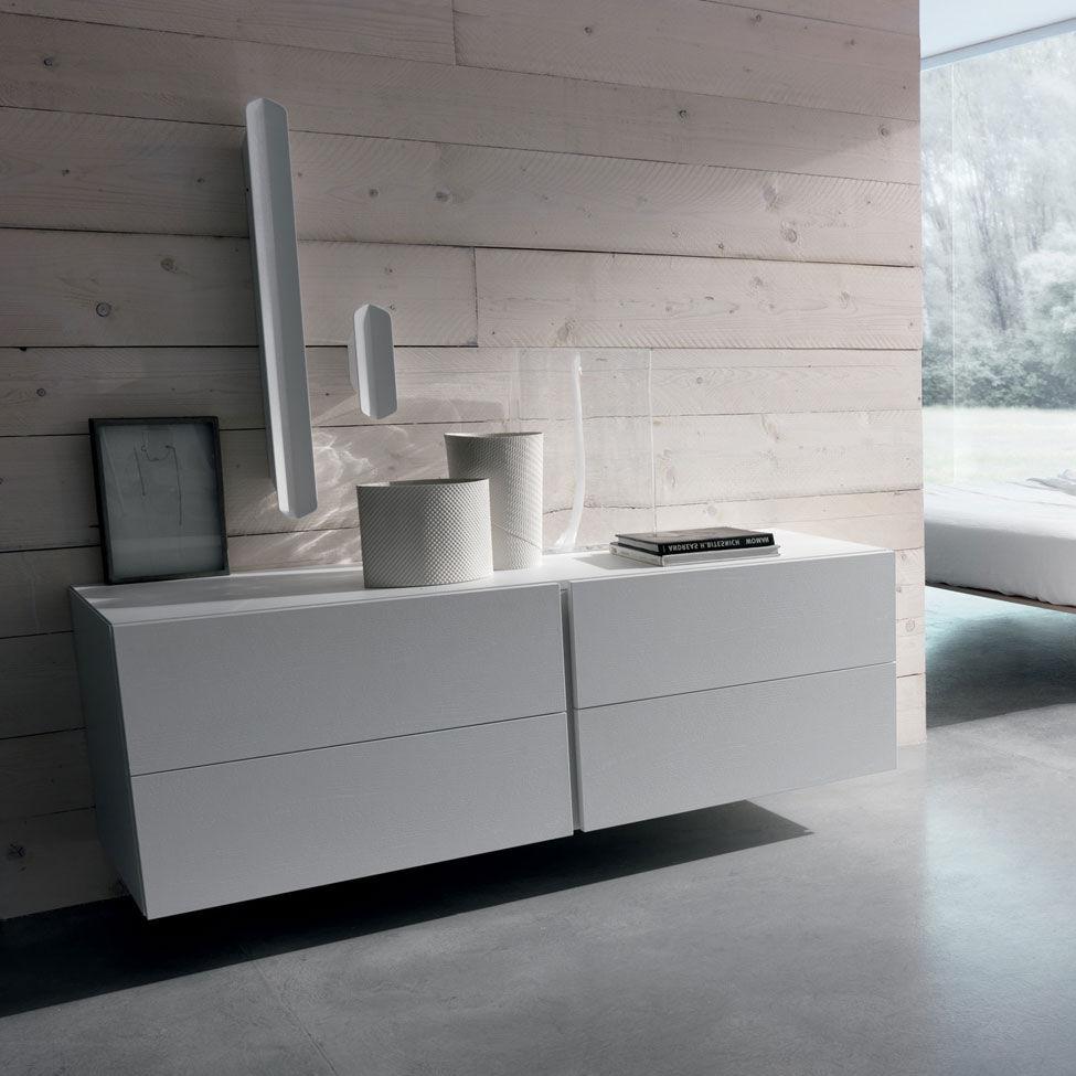 Kommode modern  Wandmontierte Kommode / modern / Holz / weiß - FILNOX - CACCARO