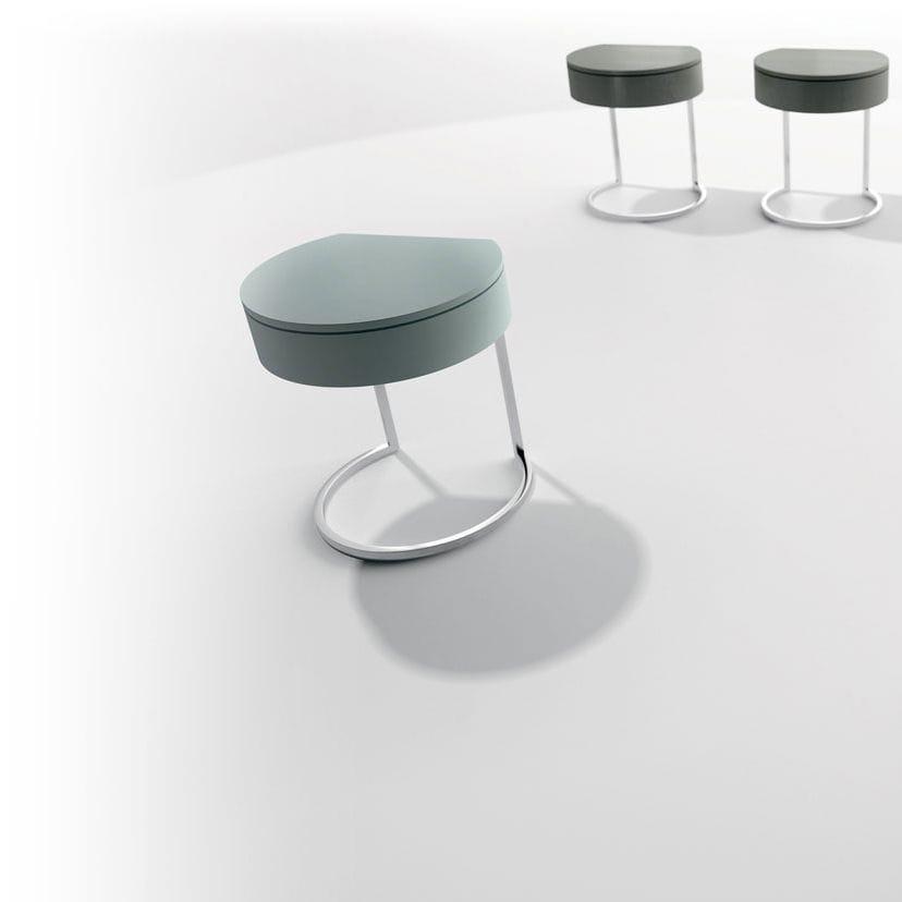 GroBartig Moderner Nachttisch / Metall / Rund / Mit Schublade   PUNTO
