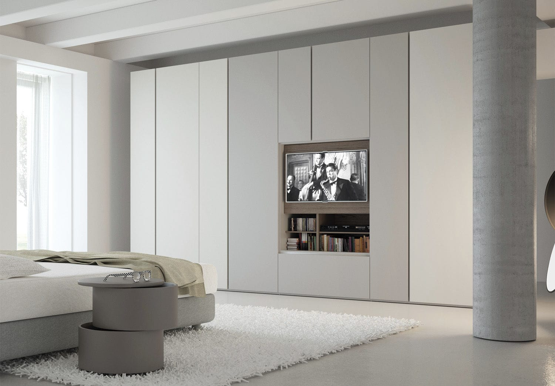 Moderner Kleiderschrank / Holz / mit Flügeltüren / Schiebetüren ...