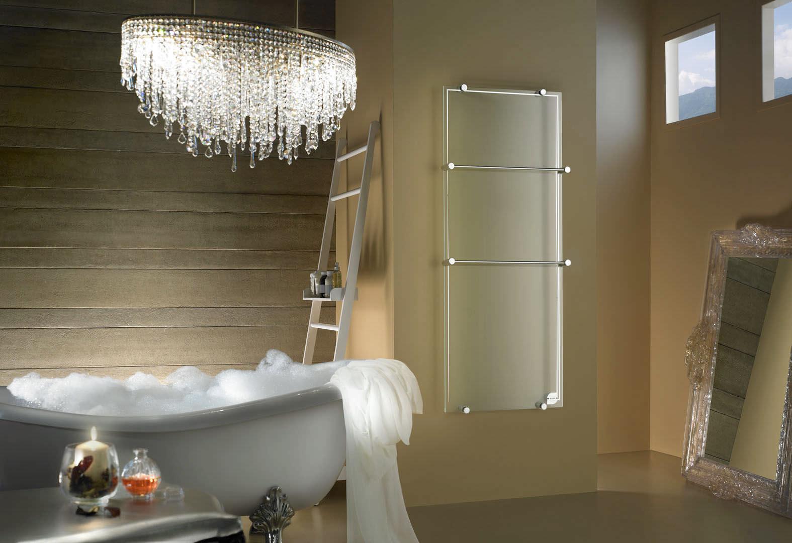 Elektrischer Badheizkörper / Glas / modern / wandmontiert ...