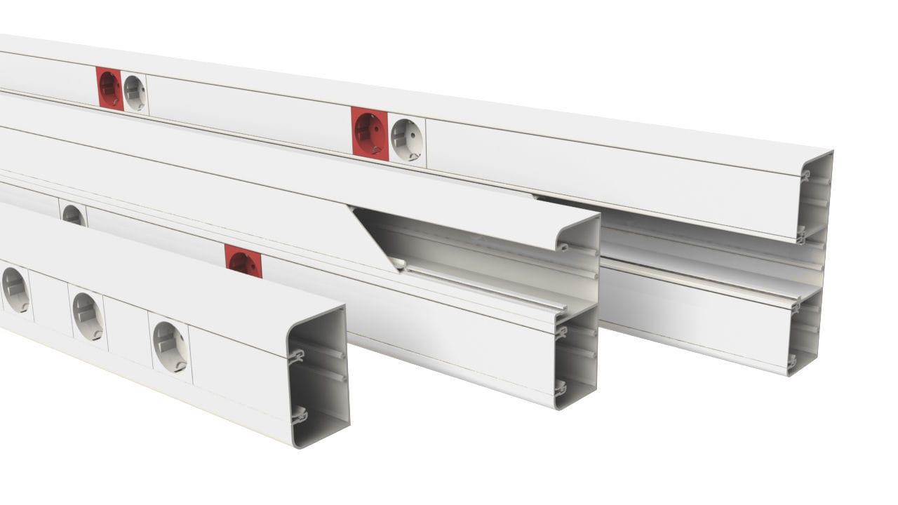 PVC-Kabelkanal / wandmontiert / für professionellen Gebrauch ...