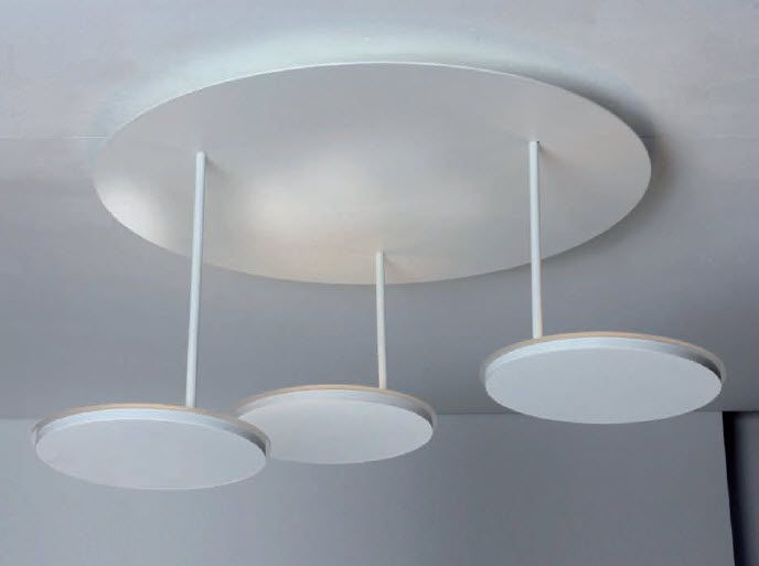 Moderne deckenleuchte aluminium led dimmbar turn by peter