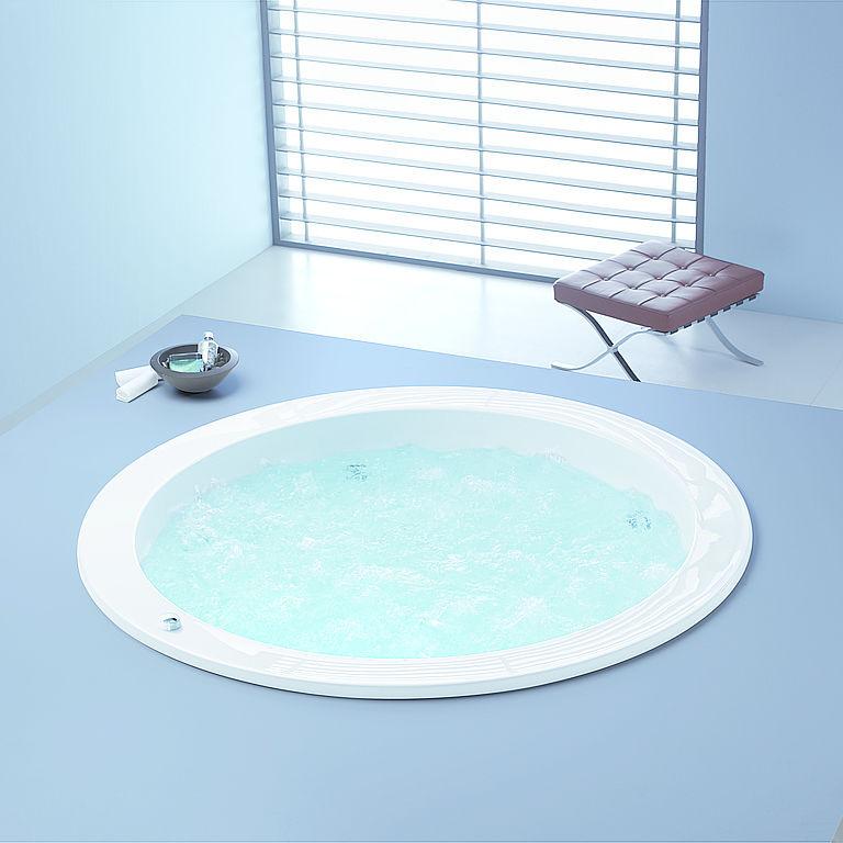 Freistehende Badewanne / rund / aus Acryl - DREAMSCAPE: 6114 by ... | {Freistehende badewanne rund 63}
