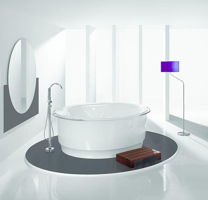 Freistehende Badewanne / rund / aus Acryl - TONDO: 6631 - HOESCH ... | {Freistehende badewanne rund 43}