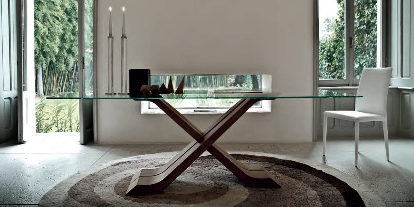 Esstisch Aus Glas Oder Holz Moderner Esstisch / Holz / Glas / Rechteckig    HECTOR By