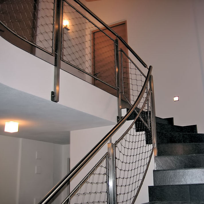 Edelstahlgeländer / Maschendraht / Innenraum / für Treppen - INOX DESIGN