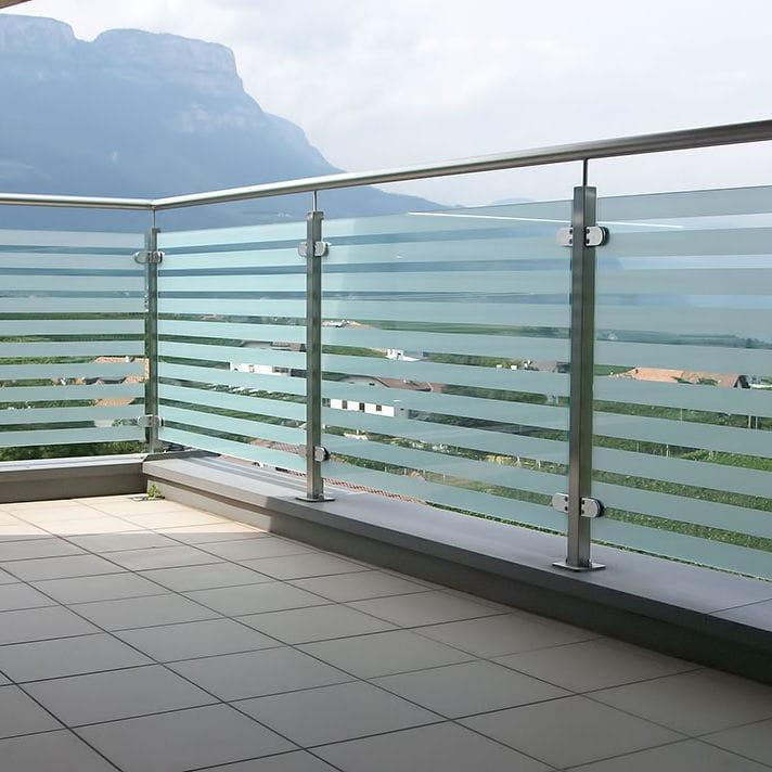 Edelstahlgeländer / Glasplatten / Außenbereich / für Terrassen ...