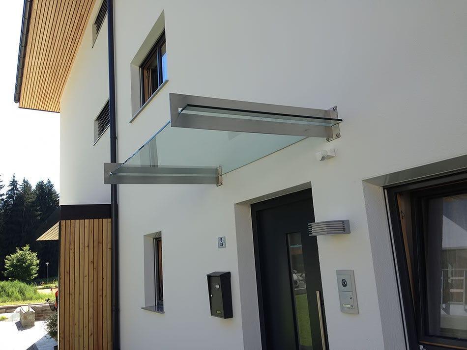 Eingang Vordach Fur Tur Glas Edelstahl Inox Design