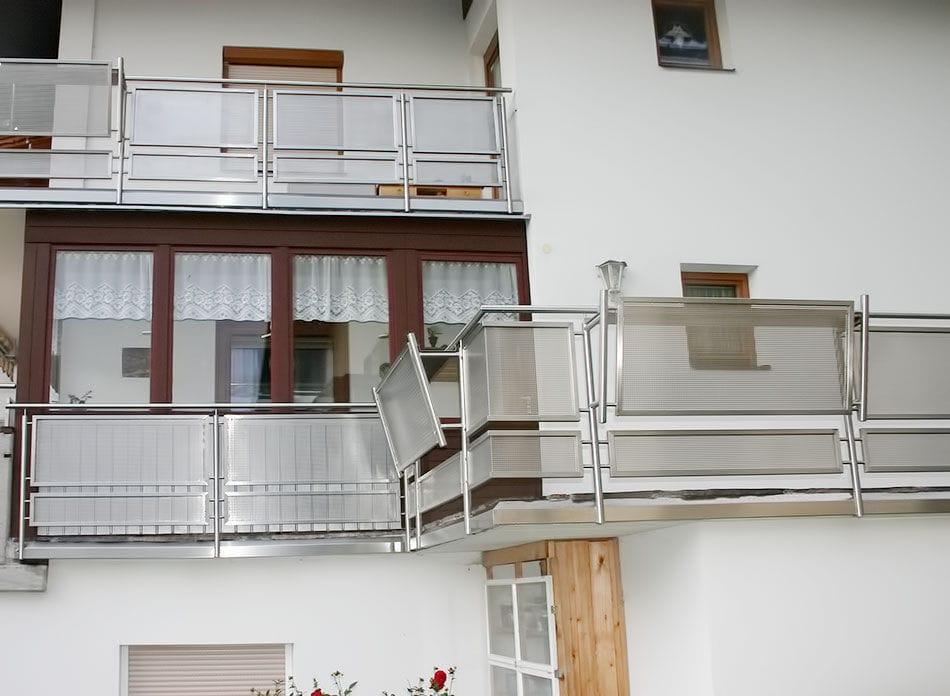 Glasplatten-Balkon / Edelstahl - INOX DESIGN