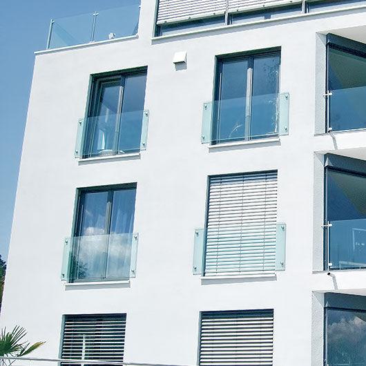Fenster außen modern  Glasgeländer / Platten / außen / für Fenster - INOX DESIGN