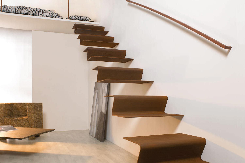 Treppe Modern gerade treppe gerade stufen metall ohne setzstufe modern c