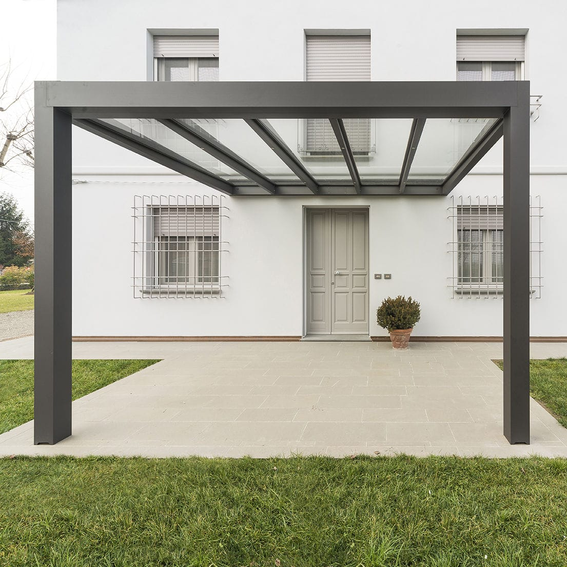Terrassenuberdachung Aluminium Glas Fur Privatgebrauch