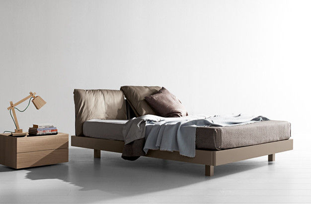 Doppelbett / Standard / modern / Leder - DEIMOS - VERARDO