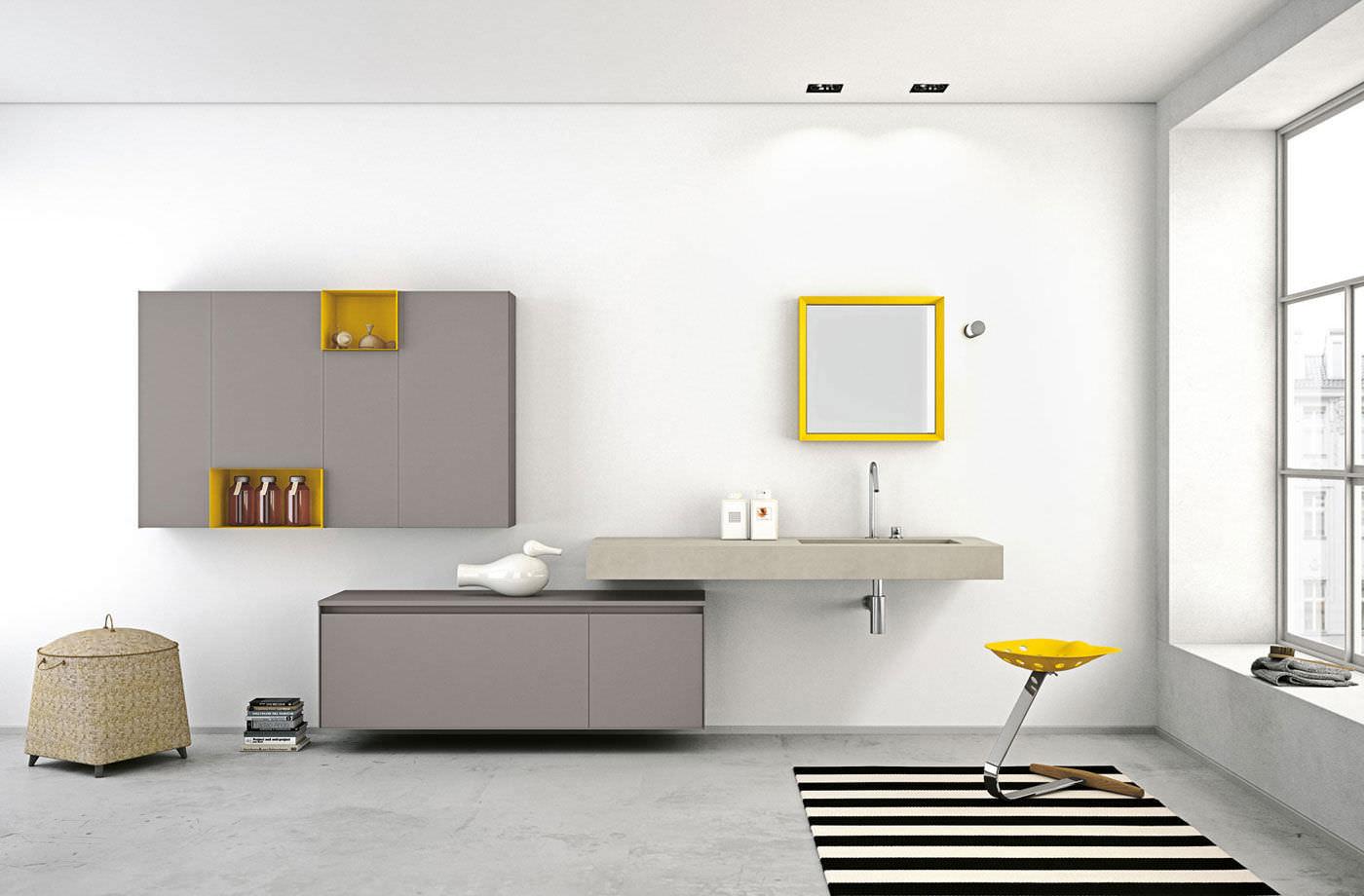 Unterschrank für Badezimmer / wandmontiert - ARIA by Willy Dalto ...