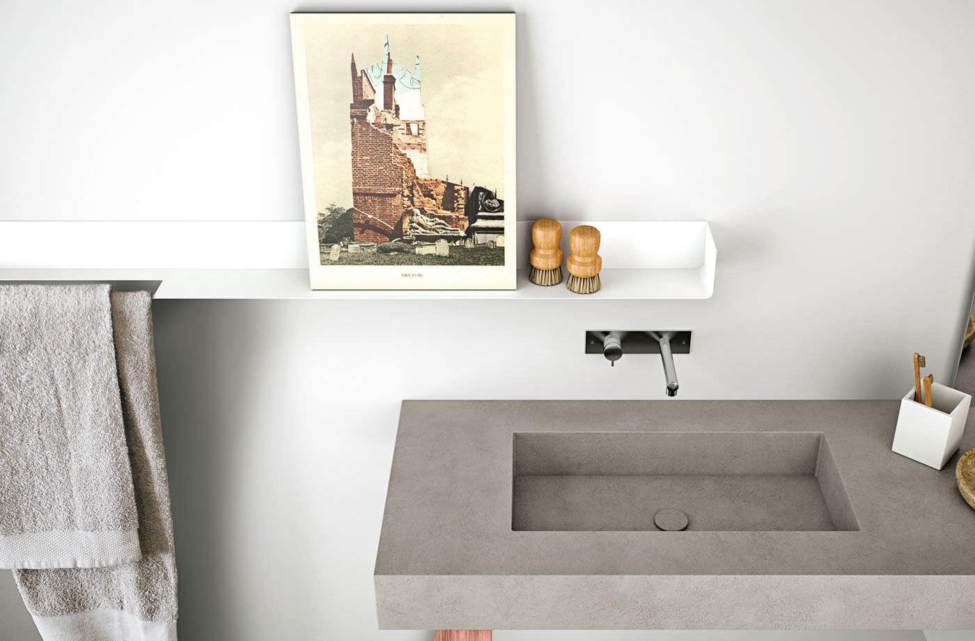 Wandregal Badezimmer Holz: Auergewhnlich Wandregal