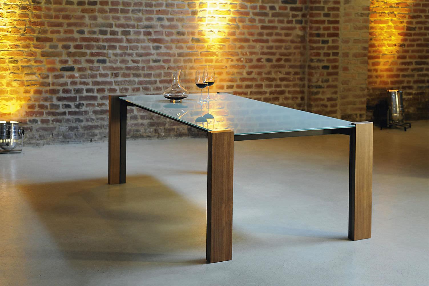 moderne esstisch / glas / rechteckig / für innenbereich, Esstisch ideennn