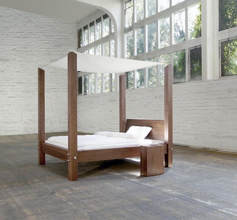 Doppelbett / Himmelbett / modern / Holz - Himmelbett ART317 ...