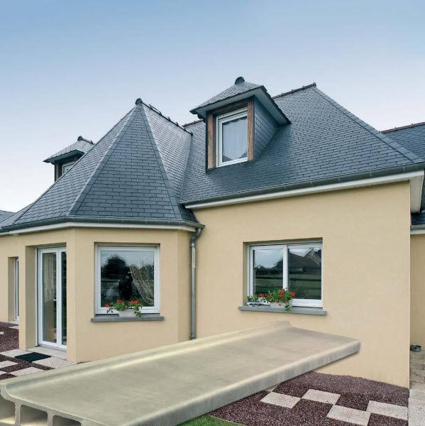 Stahlbeton-Fensterbank / Außenbereich - Eternit