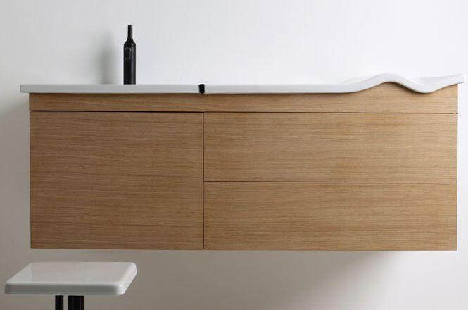 Waschtischunterschrank holz hängend  Hängend-Waschtischunterschrank / Holz / modern - GSG Ceramic Design