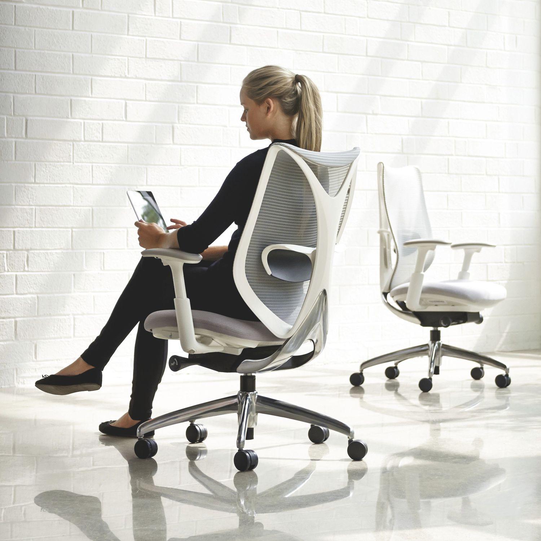 moderner sessel für büro / netz / mit rollen / mit armlehnen, Hause deko