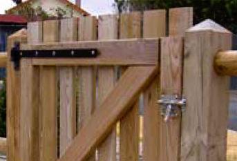 Holz Gartentor 638 233 Rondino
