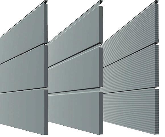 Fassadenverkleidung Aus Metall Geriffelt Platten Linear