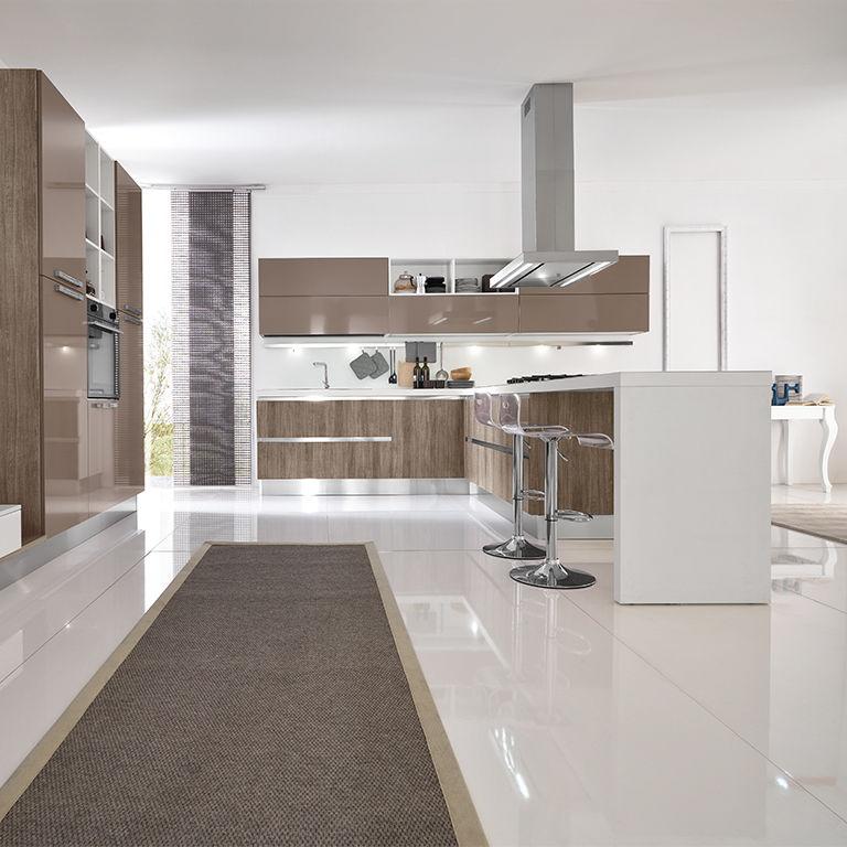 Moderne Küche / Laminat / aus Polymermaterial / Kochinsel - TERRA ...