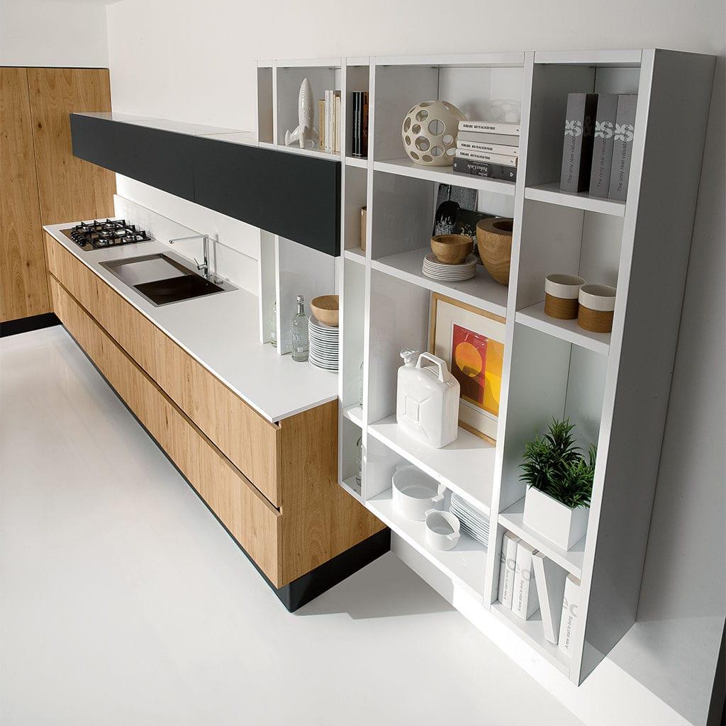 Wandmontiertes Regal / modern / lackiertes Holz / Küchen - VOLARE ...