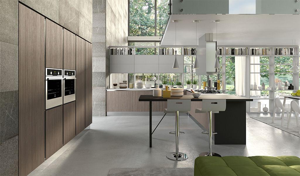 Moderne Küche / Aluminium / Glas / Laminat - BIJOU - ARAN Cucine