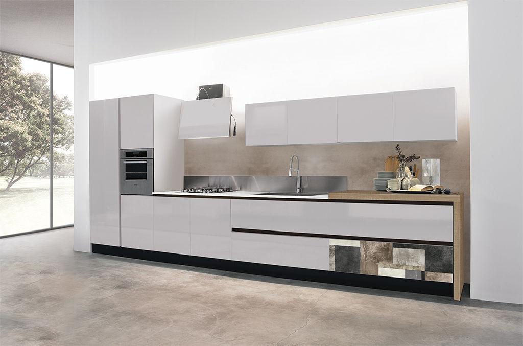 Moderne Küche / Aluminium / Laminat / Kochinsel - PENELOPE - ARAN Cucine