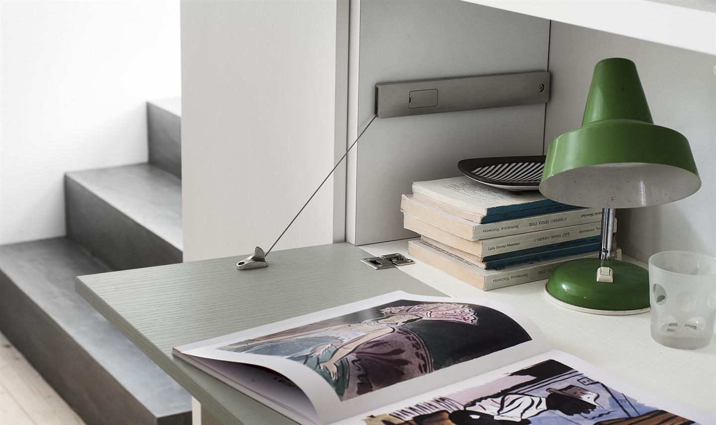 Holz-Schreibtisch / modern / wandmontiert / mit Regal - MY SPACE ...