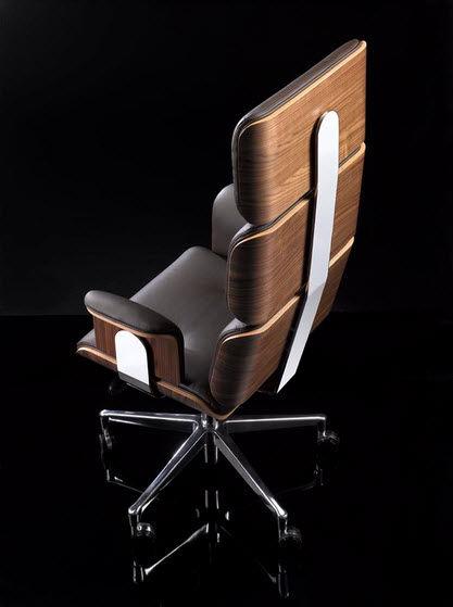 Moderner Chefsessel Leder Stahl Holz Armadillo 1 By Rainer